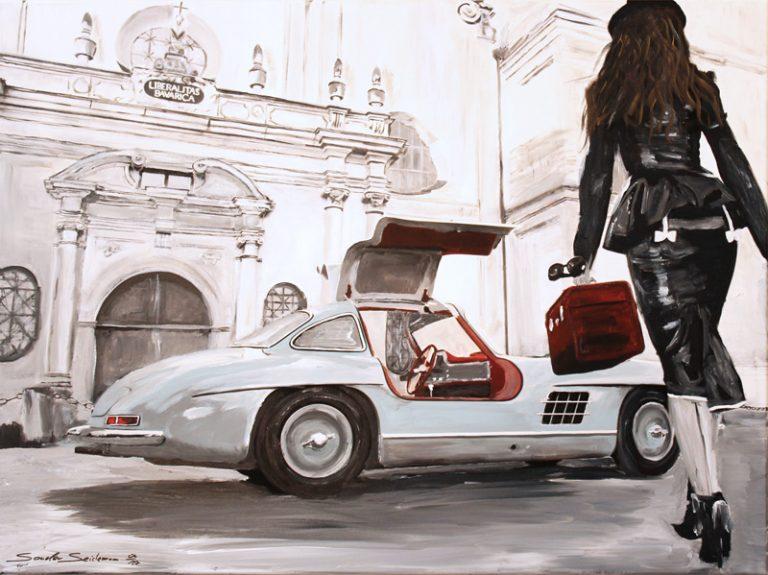 Mercedes 300 SL Silver Grey